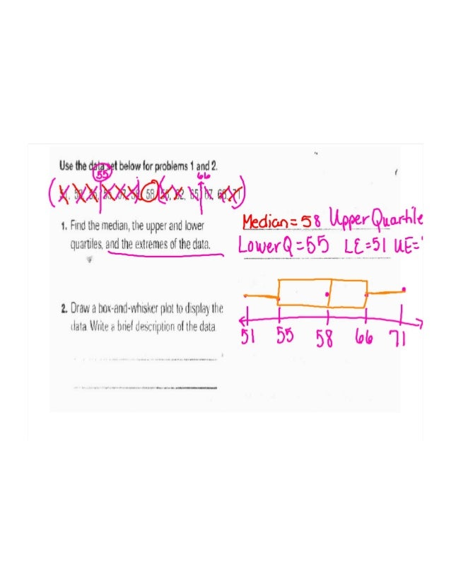 Box and whisker flipchart of worksheets with answers – Box and Whisker Plots Worksheets