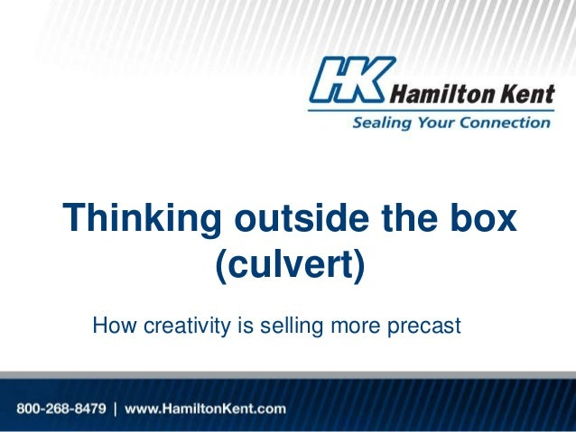 Thinking outside the box (culvert) How creativity is selling more precast