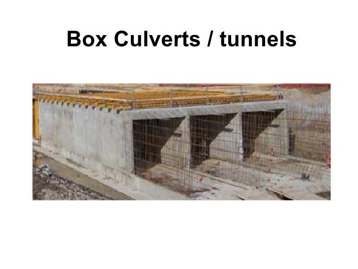 Box Culverts / tunnels