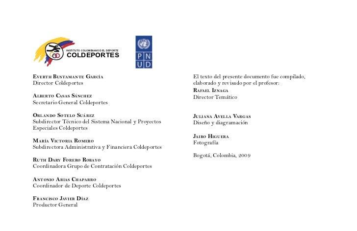 INSTITUTO COLOMBIANO D EL DEPORTE             COLDEPORTESEvErth BustamantE García                               El texto d...