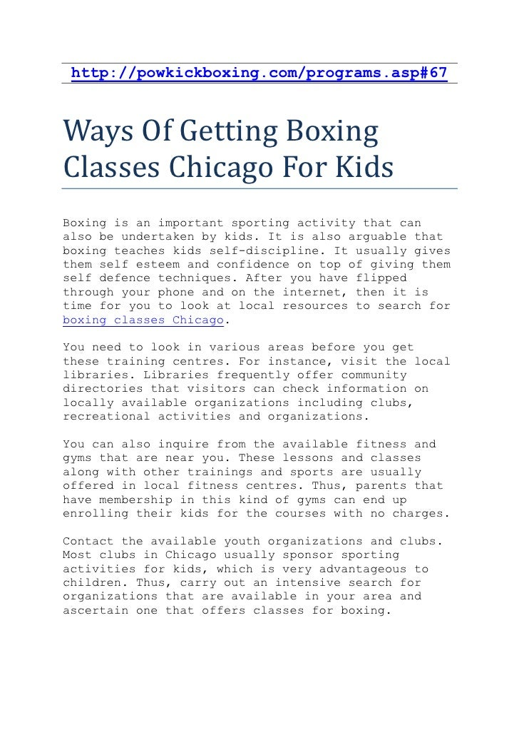 http://powkickboxing.com/programs.asp#67Ways Of Getting BoxingClasses Chicago For KidsBoxing is an important sporting acti...