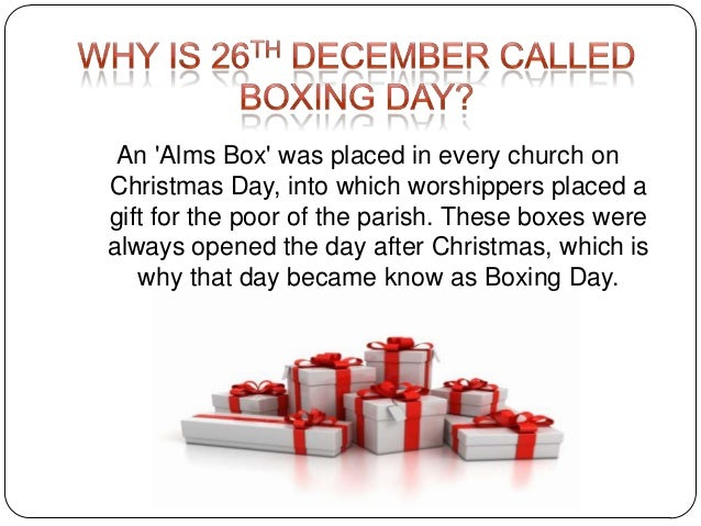 why is boxing day called boxing day photos december 26 2017 - What Is The Day After Christmas Called