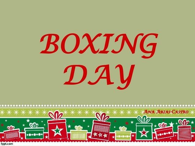 BOXING DAY ANA ARIAS-CASTRO