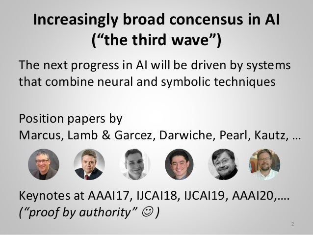 """Increasingly broad concensus in AI (""""the third wave"""") The next progress in AI will be driven by systems that combine neura..."""