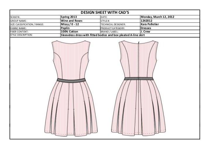 Box Pleated Dress Tech Pack