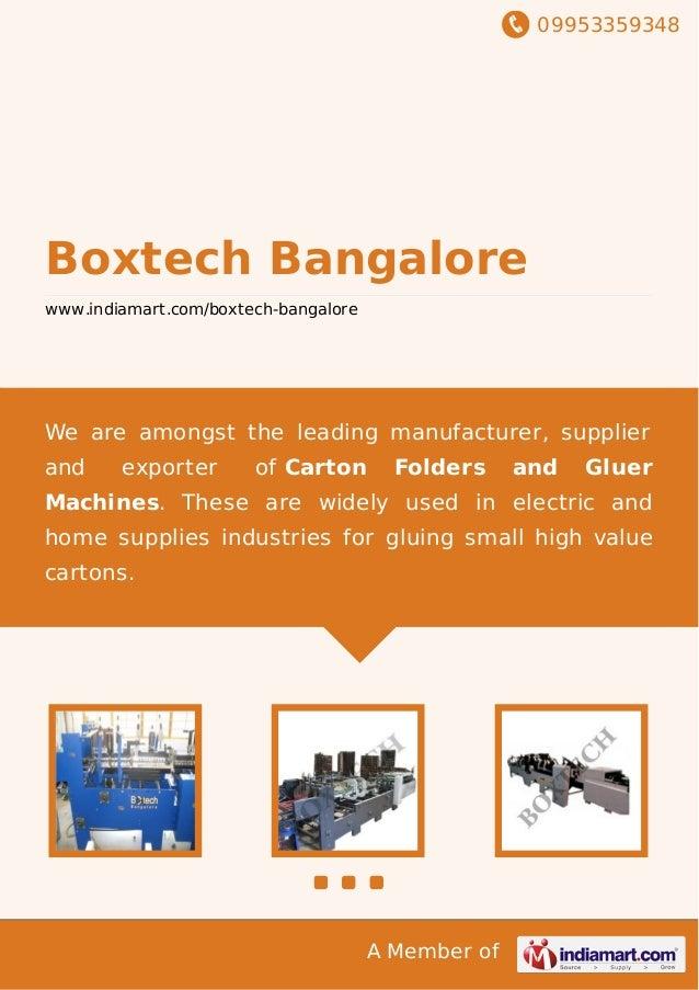 Boxtech Bangalore, Bengaluru, High Speed Folder & Gluer