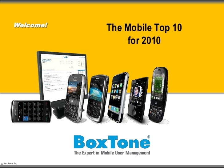 The Mobile Top 10for 2010<br />Welcome!<br />