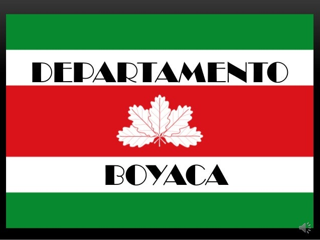 DEPARTAMENTO  BOYACA