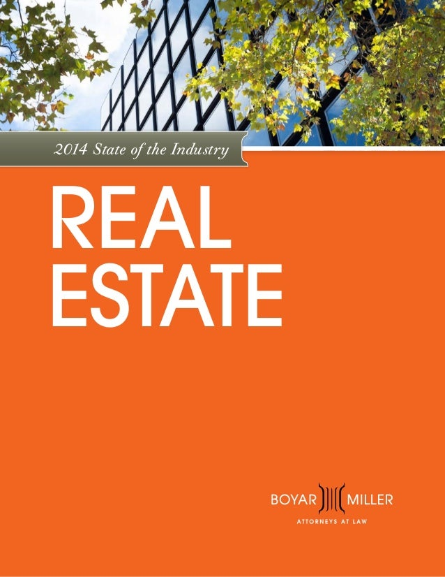 2014 State of the Industry  REAL ESTATE