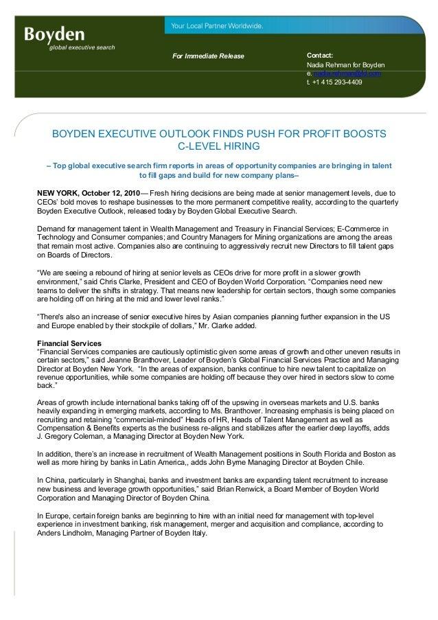 For Immediate Release For immediate release Contact: Nadia Rehman for Boyden e. nadia.rehman@fd.com t. +1 415 293-4409 BOY...