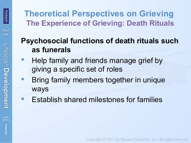 the grief process at different lifespan stages She is coauthor of grief and loss across the lifespan: a biopsychosocial perspective (2009) and coeditor (with toba s kerson)  stage-based theories 11 the transition to postmodern grief theory 16 dual process model 17 meaning-making and grief 19.