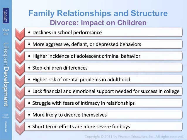 the effects of child support and the relationship essay Loss of the parent-child relationship after  support back  the marriage which could cause more long-term effects on the child as well.