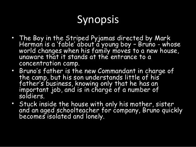 "the boy in the striped pajamas essay introduction Title length color rating : the boy in the striped pajamas, by john boyne essay - in the movie ""the boy in the striped pajamas,"" a story is told of an innocent child's forbidden friendship during world war ii in germany despite all the inhumane treatment of jews right in front of this young boy, his character is extremely naïve to the reality of what the."