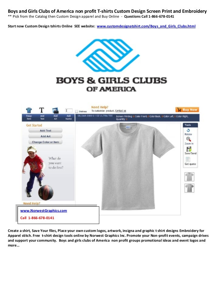 Boys And Girls Clubs Of America Non Profit T Shirts Custom Design Scr