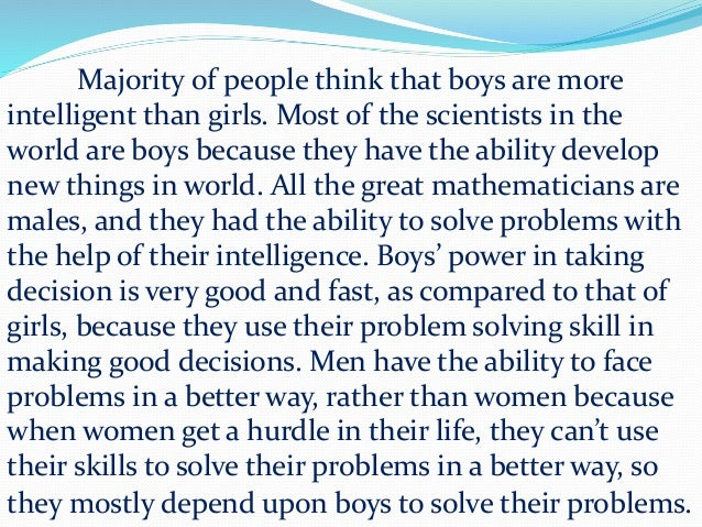 boys are more intelligent than girls 4