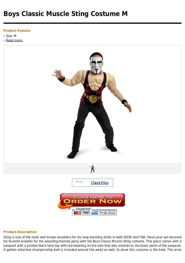 Boys Classic Muscle Sting Costume MProduct Featureq   Size: Mq   Read more                                                ...