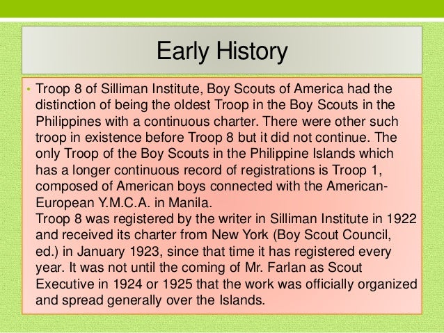 History of Boy Scouts in Negros Oriental