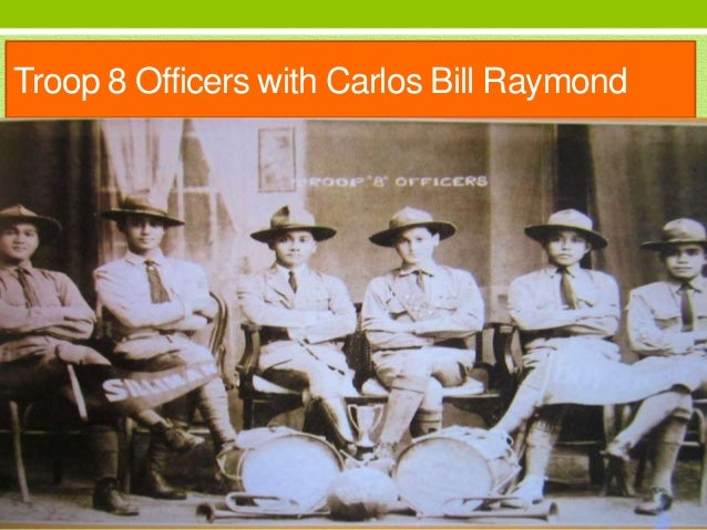 Troop 8 Officers with Carlos Bill Raymond