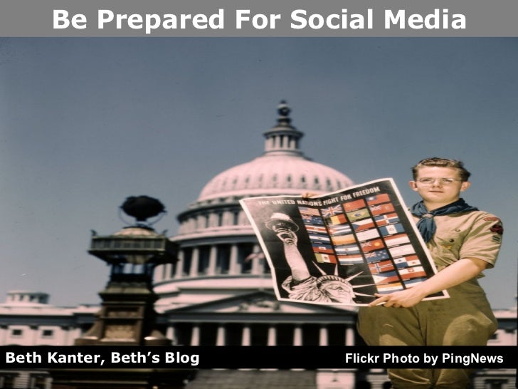 Beth Kanter, Beth's Blog   Flickr Photo by PingNews Be Prepared For Social Media