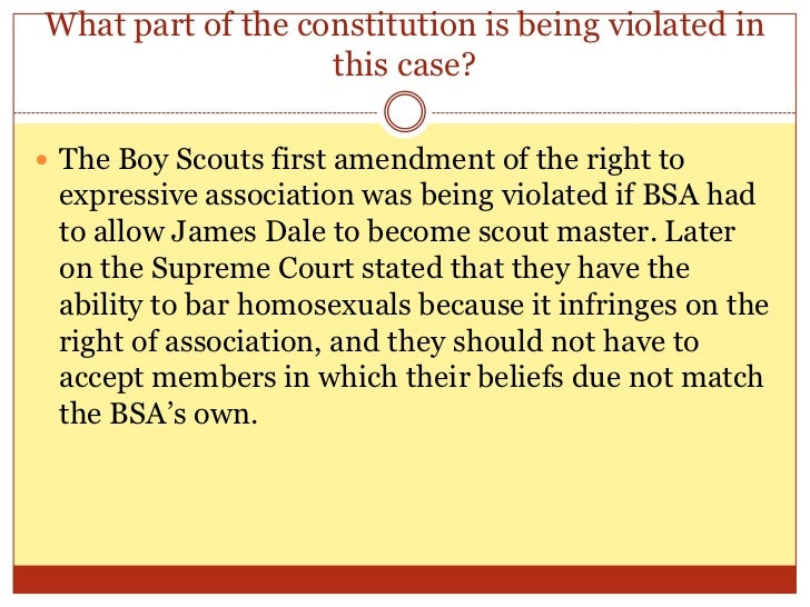 boy scouts of america v dale summary