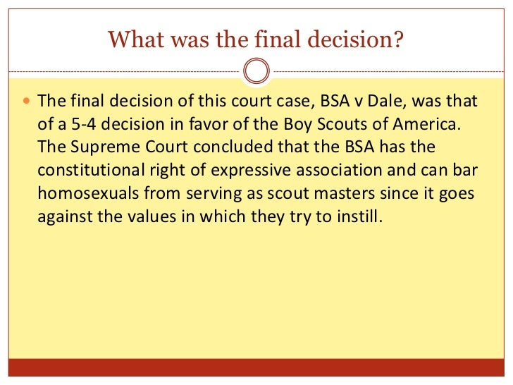 boy scouts of america vs dale