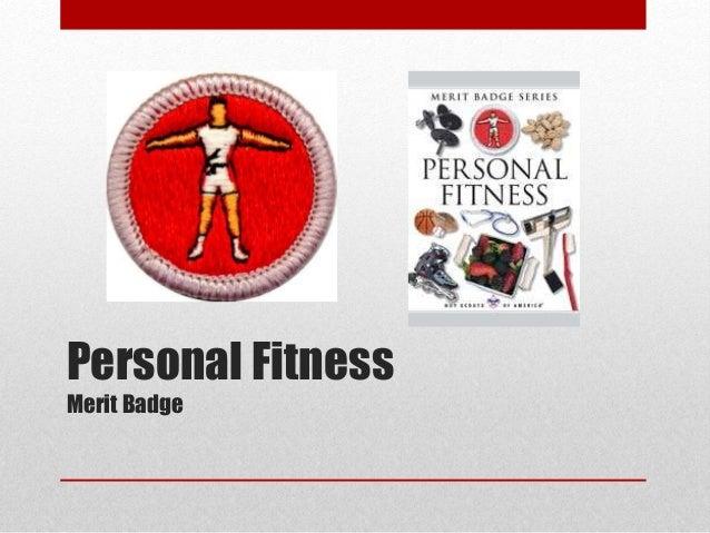 Personal Fitness Merit Badge Book