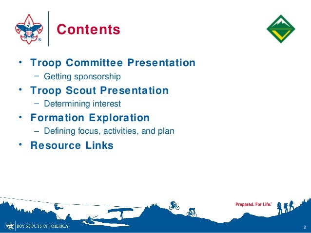 Venturing extending the boy scout troop for Cub scout powerpoint template