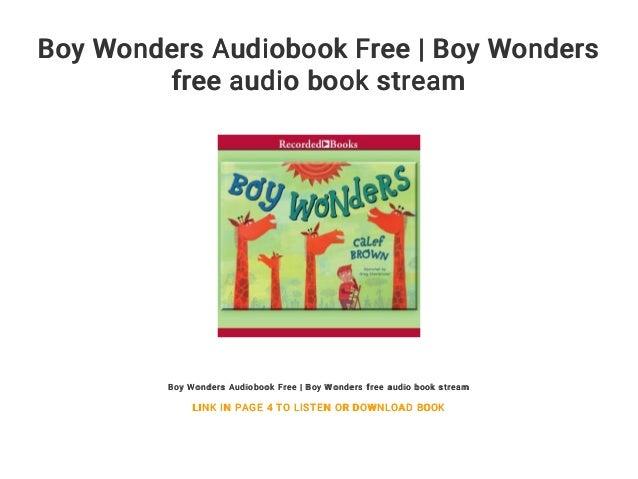 Boy Wonders Audiobook Free | Boy Wonders free audio book stream