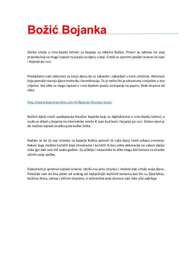 Božić Bojanka Zbirka crteža u crno-bijeloj tehnici za bojanje sa slikama Božića. Prizori se odnose na ovaj praznika koji s...