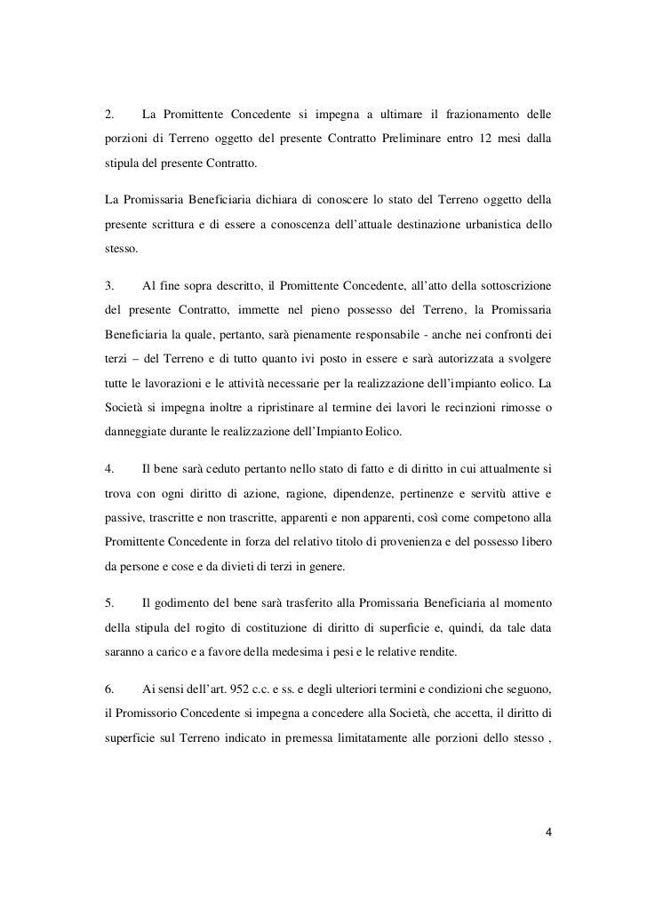Schema contratto preliminare di costituzione di diritti di for Contratto di locazione 4 4 modello