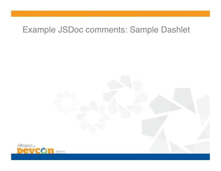 jsdoc templates - bp 7 share customization best practices