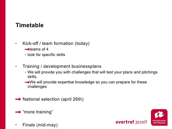 Timetable <ul><li>Kick-off / team formation (today) </li></ul><ul><ul><li>teams of 4 </li></ul></ul><ul><ul><li>look for s...