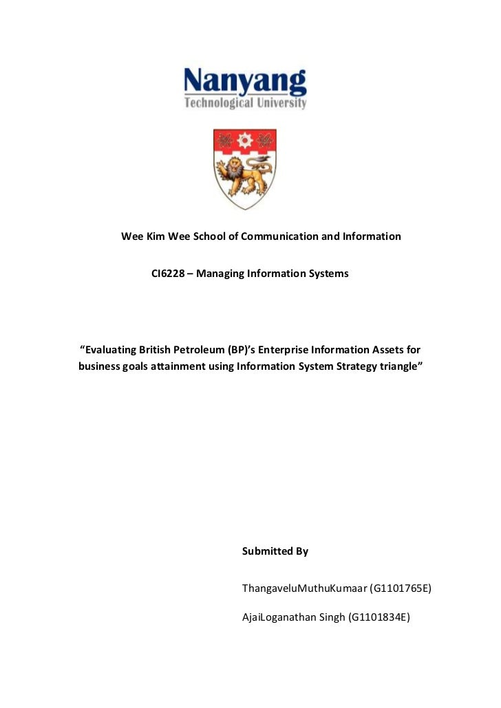 "Wee Kim Wee School of Communication and Information              CI6228 – Managing Information Systems""Evaluating British ..."