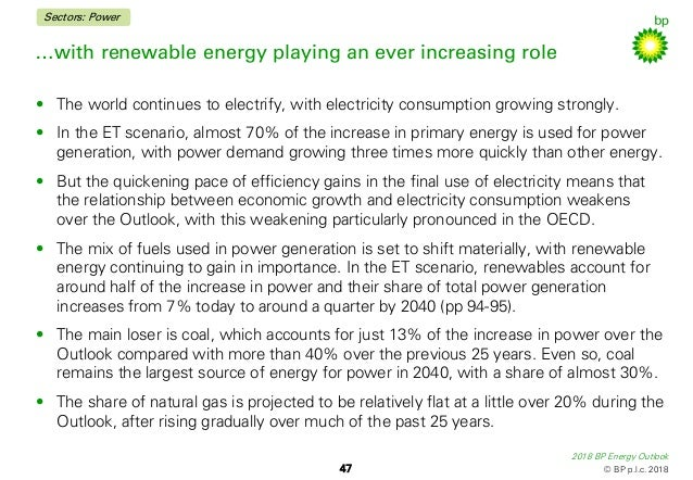 BP Energy Outlook 2018 (BP Opinion)