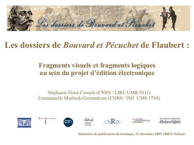 Les dossiers de Bouvard et Pécuchet de Flaubert : Fragments visuels et fragments logiques au sein du projet d'édition élec...