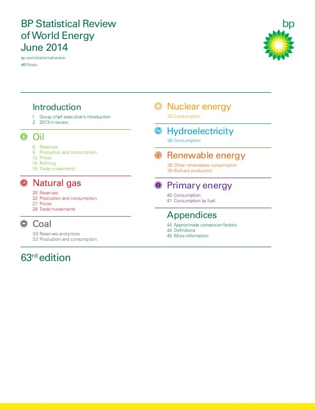 BP Statistical Review ofWorld Energy June 2014 bp.com/statisticalreview #BPstats  Introduction 1 Group chief executive's...