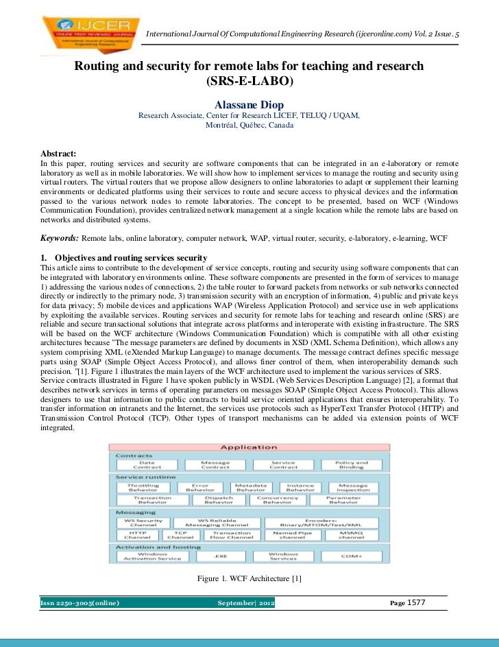 International Journal Of Computational Engineering Research (ijceronline.com) Vol. 2 Issue. 5          Routing and securit...