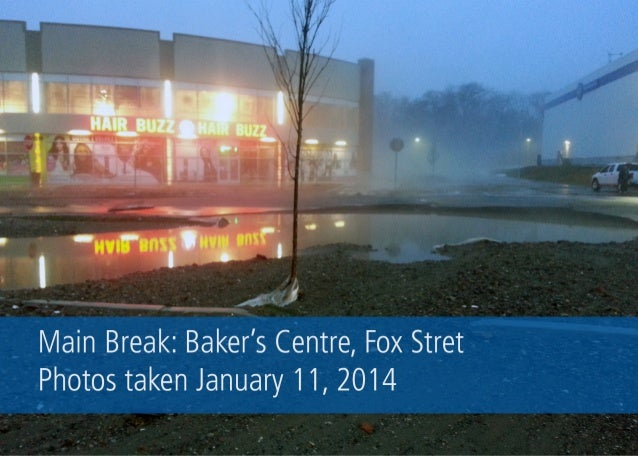 Main Break: Baker's Centre, Fox Street
