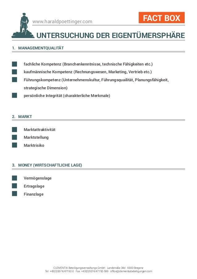 www.haraldpoettinger.com 1. MANAGEMENTQUALITÄT  fachliche Kompetenz (Branchenkenntnisse, technische Fähigkeiten etc.)  k...