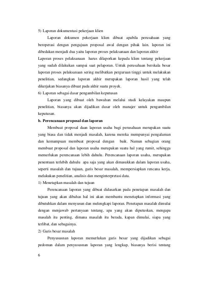 M2 Kb3 Bisnis Pemasaran Proposal Dan Laporan Usaha