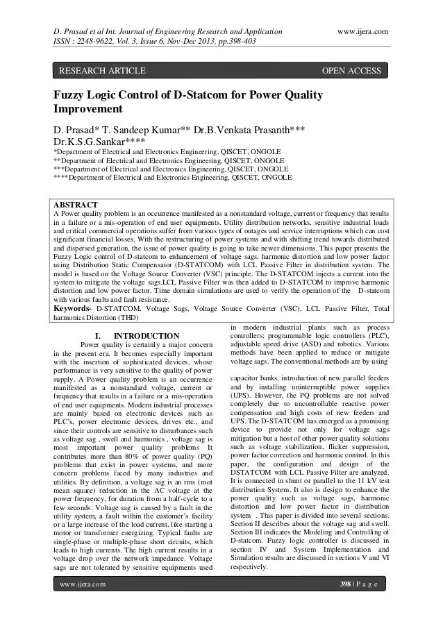 D. Prasad et al Int. Journal of Engineering Research and Application ISSN : 2248-9622, Vol. 3, Issue 6, Nov-Dec 2013, pp.3...