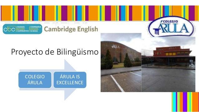 Proyecto de Bilingüismo COLEGIO ÁRULA ÁRULA IS EXCELLENCE
