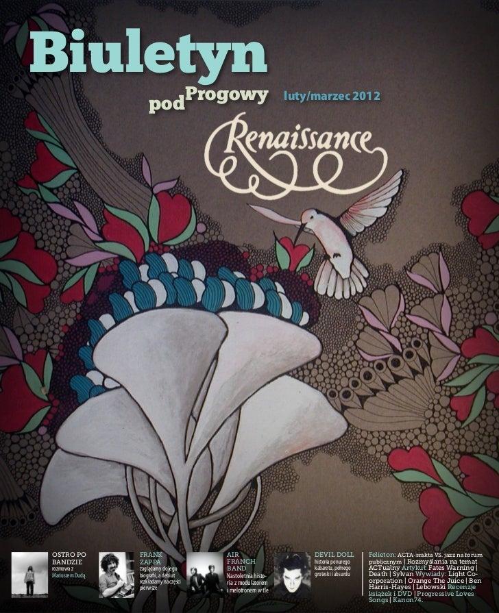 Biuletyn                     podProgowy                              luty/marzec 2012Ostro po         Frank               ...