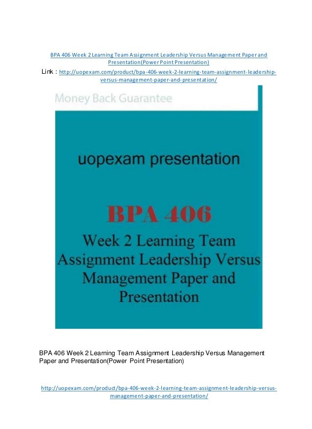 Organizational leadership versus management essay