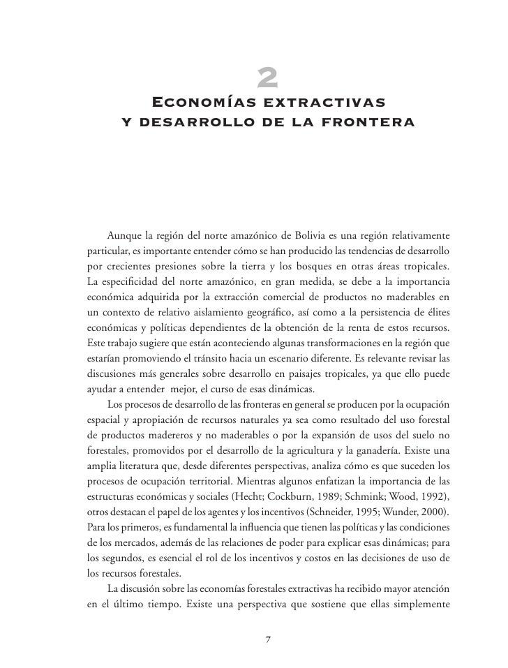 3 de largo plazo   Las trayectorias           en la economía extractiva     Antes de analizar las trayectorias de la econo...