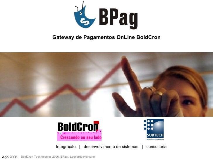 Gateway de Pagamentos OnLine BoldCron