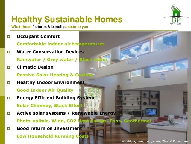bp architects healthy sustainable homes