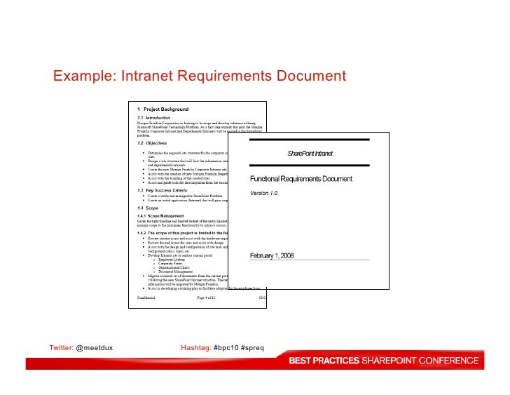 How To Best Gather Requirements For SharePoint Projects - Requirement gathering document sample