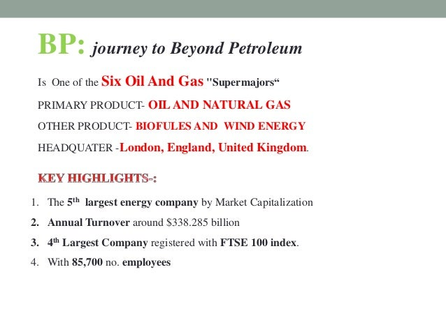 BP: Beyond Petroleum? Harvard Case Solution & Analysis