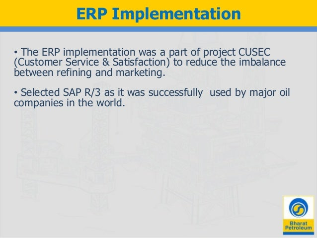 erp enactment for bpcl event study ppt